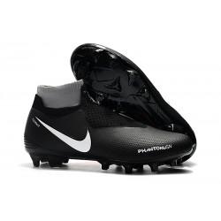 Nouveau Crampons Foot Nike Phantom Vision Elite DF FG Noir Rouge Blanc