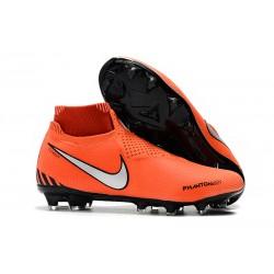 Nouveau Crampons Foot Nike Phantom Vision Elite DF FG Rouge Noir Blanc