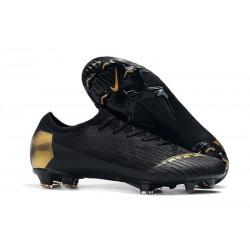 Nike Mercurial Vapor XII Elite FG - Chaussures de Football Hommes Or Noir