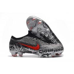 Nike Mercurial Vapor XII Elite FG - Chaussures de Football Hommes Neymar Noir Blanc Rouge