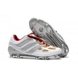 Chaussures Football Adidas Predator Precision FG Gris Or Rouge