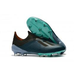 Nouveau Crampons De Foot adidas X 18+ FG Bleu Noir