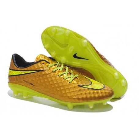 Crampon de Foot Nike Hypervenom Phantom Neymar Premium FG Or Volt