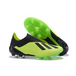 Nouvelles - Chaussures Football adidas X 18+ FG - Vert Noir