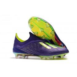 Nouveau Crampons De Foot adidas X 18+ FG Violet Vert