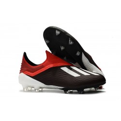 Nouveau Crampons De Foot adidas X 18+ FG Noir Rouge Blanc