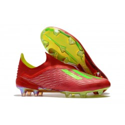 Nouvelles - Chaussures Football adidas X 18+ FG - Rouge Vert
