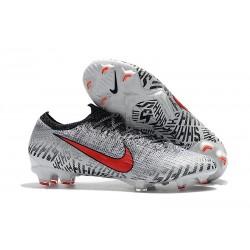 Nike Mercurial Vapor XII Elite FG Chaussures de Foot Pas Cher - Blanc Rouge Noir