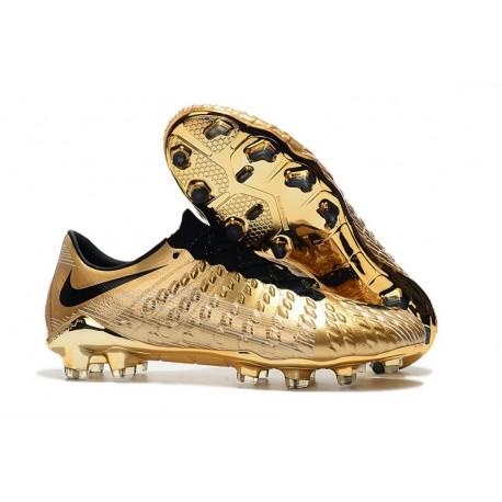 Neymar Chaussures de Football Nike Hypervenom Phantom 3 FG Or Noir