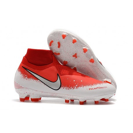 Nike Phantom Vision Elite DF FG Chaussure - Fully Charged Rouge