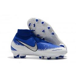 Nike Phantom Vision Elite DF FG Chaussure - Bleu Argent Blanc