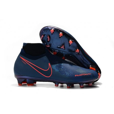 Nike Phantom Vision Elite DF FG Chaussure - Fully Charged Bleu