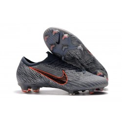 Crampons Nouveau Nike Mercurial Vapor 12 Elite FG ACC Gris Noir Orange