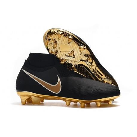 Nike Phantom Vision Elite DF FG Chaussure - Noir Or
