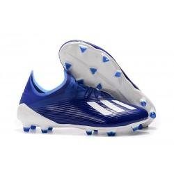 adidas X 19.1 FG Crampon de Foot Homme Bleu Blanc