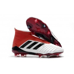 Nouveau Chaussures de Foot Adidas Predator 18+ FG Brun Blanc