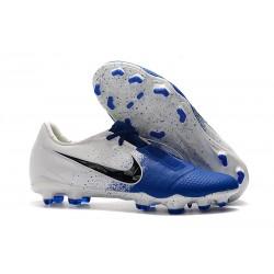 Chaussure de Foot Nike Phantom VNM Elite FG Bleu Blanc