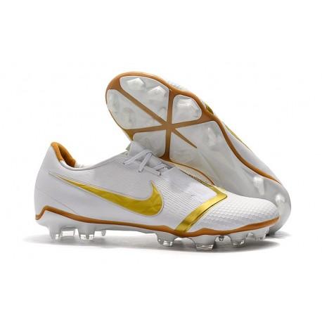 Chaussure de Foot Nike Phantom VNM Elite FG Blanc Or