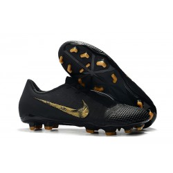 Chaussure de Foot Nike Phantom VNM Elite FG Noir Or