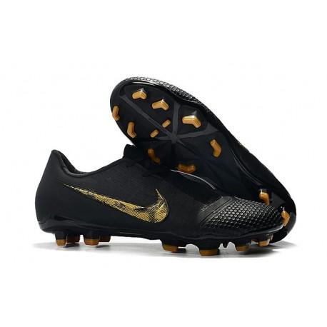 Chaussure de Foot Nike Phantom VNM Elite FG Noir Or