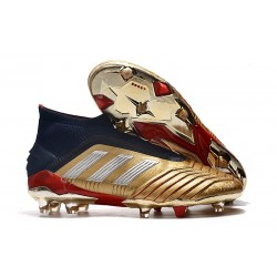 adidas Chaussure Neuf Predator 19+ FG - Or Argent Rouge