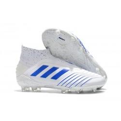 adidas Chaussure Neuf Predator 19+ FG - Blanc Bleu