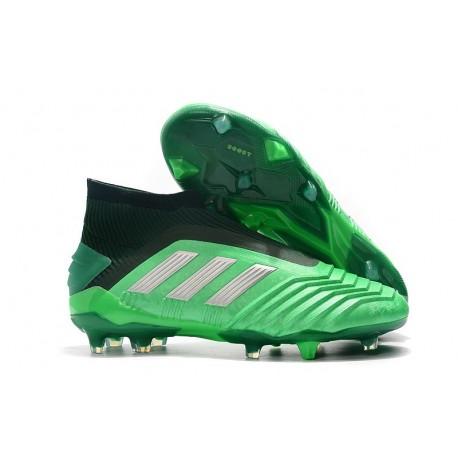 adidas Chaussure Neuf Predator 19+ FG - Vert Argent
