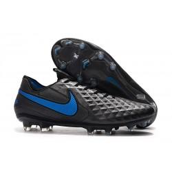 Chaussure Nouvelles Nike Tiempo Legend 8 Elite FG - Noir Bleu