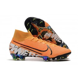 Nike Mercurial Superfly VII 360 FG Chaussures - Orange Noir