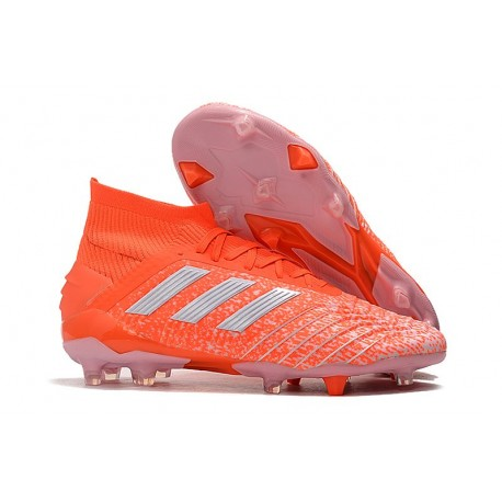 Chaussures Football Adidas Predator 19.1 FG Orange Blanc