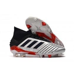 Chaussures Football Adidas Predator 19.1 FG Argent Noir Rouge