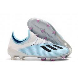 adidas X 19.1 FG Crampon de Foot Homme Bleu Blanc Noir