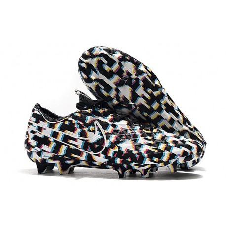 Chaussure Nouvelles Nike Tiempo Legend 8 Elite FG - Noir Blanc