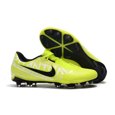 Chaussure de Foot Nike Phantom VNM Elite FG Volt Blanc Obsidienne