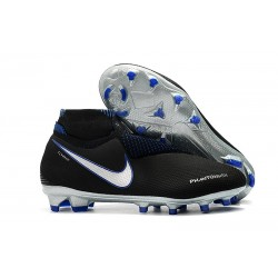 Nouveau Crampons Foot Nike Phantom Vision Elite DF FG Bleu Noir