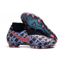 Nouveau Crampons Foot Nike Phantom Vision Elite DF FG Nike x EA Sports Bleu Noir Rouge