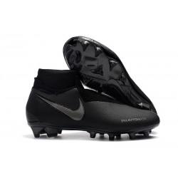 Nouveau Crampons Foot Nike Phantom Vision Elite DF FG Tout Noir
