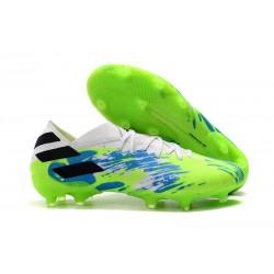 adidas Nouveau Chaussures Nemeziz 19.1 FG - Blanc Vert Bleu