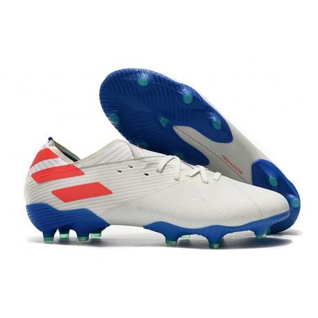 adidas Nouveau Chaussures Nemeziz 19.1 FG - Blanc Bleu Rouge