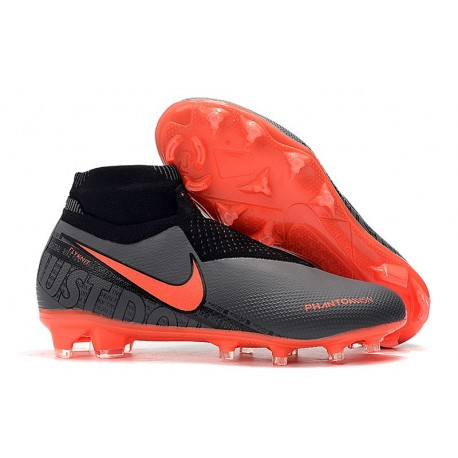 Crampons Nike Phantom VSN Elite Dynamic Fit FG Noir Rouge