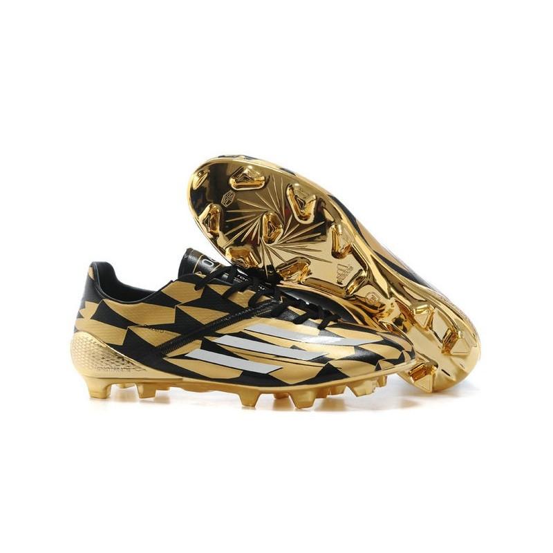 Adizero F50 Trx Fg Syn Messi Chaussures Football Homme Adidas Neuf Or Noir Blanc