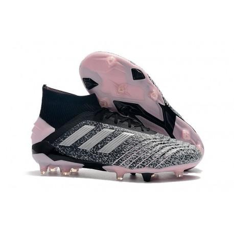 adidas Nouvelles Chaussures Predator 19+ FG - Noir Gris Rose
