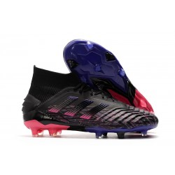 adidas Nouvelles Chaussures Predator 19+ FG - Noir Bleu Rose