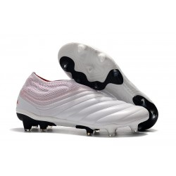 Chaussures De Football Adidas Copa 19+ FG Blanc Rouge