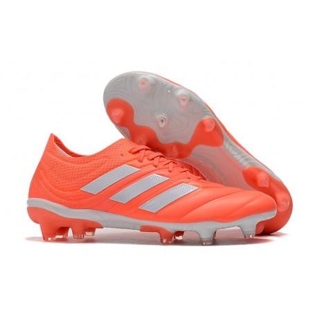 Nouvelles Crampons de Foot - Adidas Copa 19.1 FG Rouge Blanc