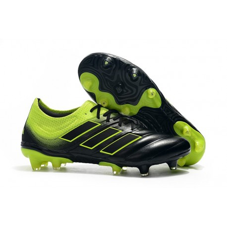 Nouvelles Crampons de Foot - Adidas Copa 19.1 FG Noir Vert