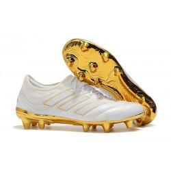 Nouvelles Crampons de Foot - Adidas Copa 19.1 FG Blanc Or