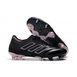 Nouvelles Crampons de Foot - Adidas Copa 19.1 FG Noir Rose