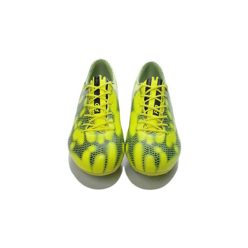 release date: 0a89c aa4d2 Jaune Adidas F50 Homme Foot Chaussure Messi Fg Trx Adizero Noir De rOSzwnO