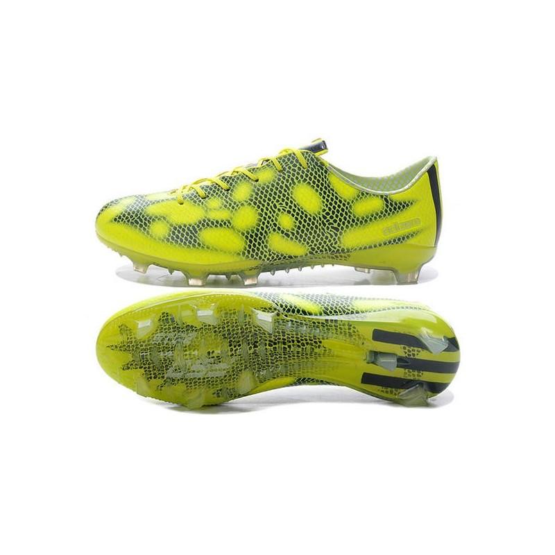 sports shoes b7550 00d06 Adidas Chaussure de foot F50 Adizero Messi TRX FG homme Jaune Noir